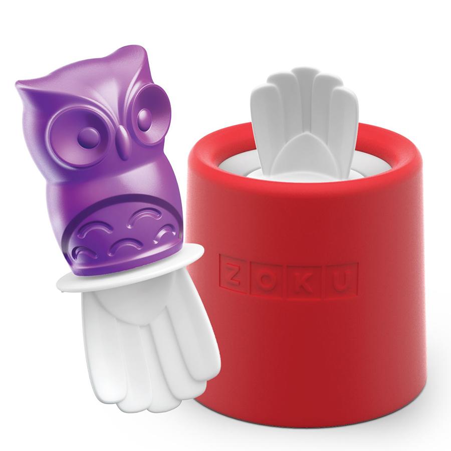 Форма для мороженого Zoku Owl ZK123-014Посуда для приготовления<br>Форма для мороженого Zoku Owl ZK123-014<br><br>Уникальная коллекция формочек для замороженного сока Ice Pop Mold включает в себя 8 разных фигурок с помощью которых вы сможете готовить вкусные и полезные домашние десерты. Теперь каждому члену семьи достанется свой персонаж и не придется путаться в том кому и какое лакомство принадлежит.  Формы крайне просты в использовании. Для приготовления десерта достаточно предварительно охладить емкость после чего залить туда готовую жидкость и оставить в морозильной камере на 7-9 минут. Ваше угощение готово! В серию входят: лягушка птичка еж котенок черепаха кролик сова и принцесса.<br>