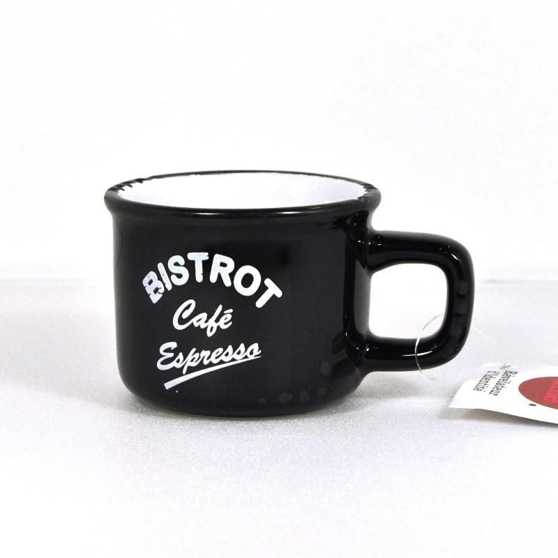 Кофейная чашка-кружечка эспрессо черная (Фарфор и керамика Antic Line, Франция)Фарфор и керамика Antic Line, Франция<br>Кофейная чашка-кружечка эспрессо черная <br>Керамика, стилизовано под эмалированный металл    <br>Высота 4,5 см <br>Производитель: Antic Line, Франция<br>