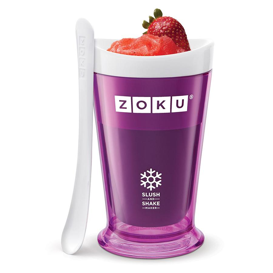 Форма для холодных десертов Zoku Sluch &amp; Shake фиолетовая ZK113-PUНовинки<br>Форма для холодных десертов Zoku Sluch &amp; Shake фиолетовая ZK113-PU<br><br>Форма Slush &amp; Shake Maker позволит вам насладиться натуральными снежными десертами молочными коктейлями фруктовыми соками и даже замороженными алкогольными напитками собственного приготовления! Создавайте невероятные вкусовые сочетания смешивая различные ингредиенты: фрукты домашние соки молоко шоколад кофе гоголь-моголь энергетические напитки и прочее.  Загрузите все компоненты в заранее охлажденную форму и поставьте в морозильную камеру. Уже через 7 минут вы сможете попробовать свежеприготовленный десерт и угостить им своих друзей! Доступные цветовые решения: красный оранжевый синий зеленый фиолетовый.<br>
