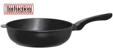 Литая глубокая сковорода Risoli Induction 28см 00104IN/28TPСковороды<br>Литая глубокая сковорода Risoli Induction 28см 00104IN/28TP<br><br>В настоящий момент на рынке море посуды. Но как же выбрать хорошую сковороду? На что стоит обратить внимание? Во-первых, хорошая сковорода всегда литая, она имеет утолщенно дно и стенки для равномерного распределения тепла. Во-вторых, она имеет современное усиленное и экологичное антипригарное покрытие. Всегда стоит обращать внимание на маркировку посуды. Любая сковорода, произведенная, например, в Италии, имеет обозначение Made in Italy и никогда на ней Вы не встретите маркировку Italy, Styled in Italy или что-то подобное. Ну, и конечно же, авторитет производителя. Коллекция посуды Risoli (Ризоли) Induction обладает набором всех этих качеств. Попробовав готовить на ней однажды, Вы не променяете ее ни на что в будущем. В этом уже убедились миллионы покупателей по всему миру. Вся продукция торговой марки Risoli (Ризоли) производится исключительно в Италии. Компания Risoli является лидером в производстве литой посуды из алюминия. На фабриках Risoli размещают свои заказы на производство посуды свыше 20 других европейких компаний из Италии, Испании, Германии, Швейцарии и других стран. Посуда Risoli отливается из новейшего пищевого алюминиевого сплава EcoCast. Этот сплав был специально разработан для производства литой посуды премиум класса. Массовая доля алюминия в этом сплаве достигает 98%, в то время, как в других сплавах, использующихся для производства литой посуды, этот показатель не выше 80%. Сверхпрочное титановое покрытие Titanium 3®, установленное по технологии Plasma Spray на подложку из оксида титана – сверхпрочной керамики. Верхний антипригарный слой выполнен на водной основе. Это лучший выбор для посуды класса Премиум. Антипригарные покрытия, используемые компанией Risoli для производства своей посуды, не содержат PFOA (перфтороктановую кислоту). Они абсолютно антипригарные и безопасные. Компания Risoli всегда использует
