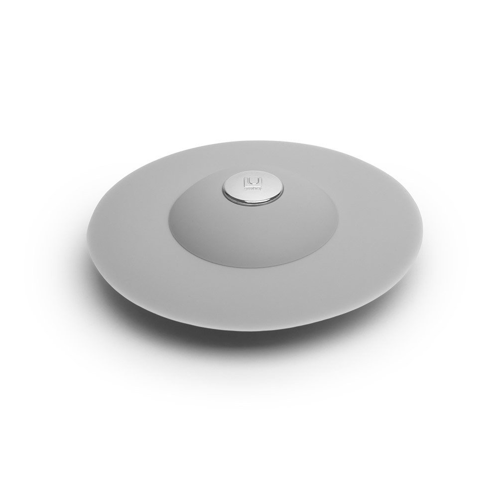 Фильтр для слива Umbra FLEX серый 023464-918Фильтры для слива<br>Фильтр для слива Umbra FLEX серый 023464-918<br><br>Если вы думали, что ещё удобнее сделать фильтр для слива невозможно, вы ошибались! Нажмите на металлическую кнопку в центре, чтобы вода сливалась через фильтр, задерживая в нём мусор. Нажмите на резиновые крылышки вокруг кнопки, и фильтр закроет слив, чтобы вы смогли наполнить ванну или раковину.<br>Официальный продавец<br>