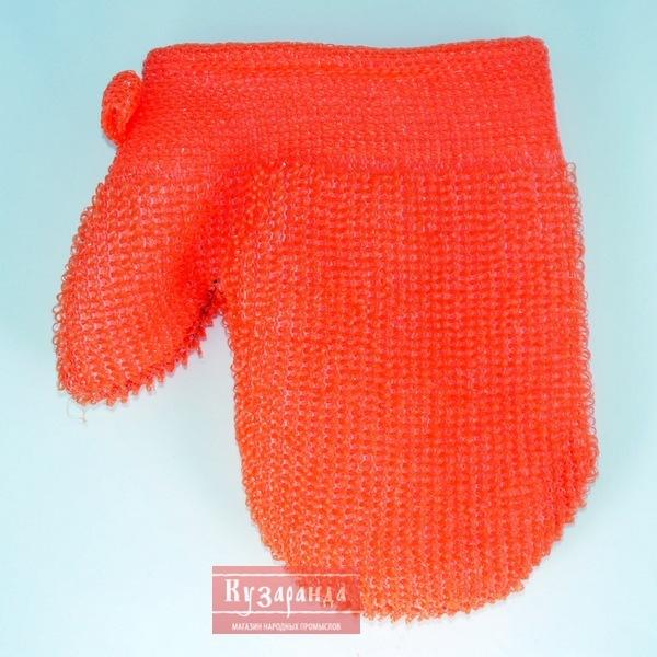 Вязание крючком мочалка рукавица 24
