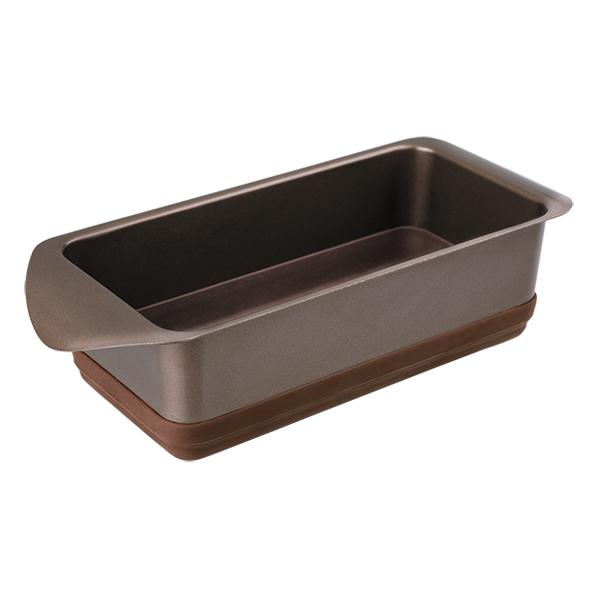 Форма для выпечки Rondell Mocco&amp;Latte 20x10 см RDF-441Формы для выпечки Rondell<br>Форма для выпечки Rondell Mocco&amp;Latte 20x10 см RDF-441<br><br>Размер: 20x10x6.5 см<br>Углеродистая сталь - 0.8 мм. и силикон. Внутреннее антипригарным покрытием Quantum от Whitford. Внешнее антипригарное покрытие для легкого ухода. Силиконовые элементы, облегчающие извлечение выпечки из формы. Упаковка - подарочная коробка. Буклет с рецептами. Подходит для использования в посудомоечных машинах.<br>