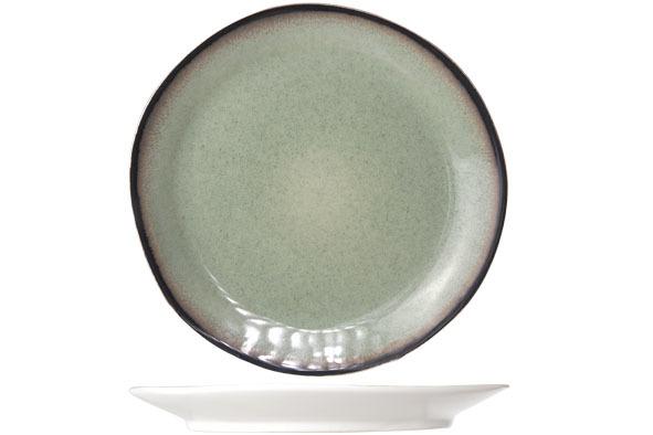 Блюдце 15,5 см COSY&amp;TRENDY Fez green 9212171Тарелки<br>Блюдце 15,5 см COSY&amp;TRENDY Fez green 9212171<br><br>Эта коллекция из каменной керамики поражает удивительным цветом, текстурой и формой. Насыщенный темно-зеленый оттенок с волнистым рельефом погружают в песчаную лагуну. Органические края для дополнительного дизайна. Коллекция FEZ Green воссоздает исключительный внешний вид приготовленных блюд.<br>