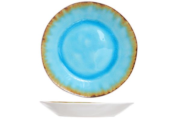 Блюдце 15 см COSY&amp;TRENDY Laguna azzuro 1164065Тарелки<br>Блюдце 15 см COSY&amp;TRENDY Laguna azzuro 1164065<br><br>Эта коллекция из каменной керамики поражает удивительным цветом, текстурой и формой. Ярко-голубой оттенок с волнистым рельефом погружают в райскую лагуну. Органические края для дополнительного дизайна. Коллекция Laguna Azzuro воссоздает исключительный внешний вид приготовленных блюд.<br>