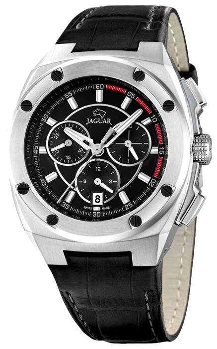 Jaguar J806_4 - мужские наручные часыJaguar<br><br><br>Бренд: Jaguar<br>Модель: Jaguar J806_4<br>Артикул: J806_4<br>Вариант артикула: None<br>Коллекция: None<br>Подколлекция: None<br>Страна: Швейцария<br>Пол: мужские<br>Тип механизма: кварцевые<br>Механизм: None<br>Количество камней: None<br>Автоподзавод: None<br>Источник энергии: от батарейки<br>Срок службы элемента питания: None<br>Дисплей: стрелки<br>Цифры: отсутствуют<br>Водозащита: WR 50<br>Противоударные: None<br>Материал корпуса: нерж. сталь<br>Материал браслета: кожа<br>Материал безеля: None<br>Стекло: сапфировое<br>Антибликовое покрытие: None<br>Цвет корпуса: None<br>Цвет браслета: None<br>Цвет циферблата: None<br>Цвет безеля: None<br>Размеры: 43.7x13.3 мм<br>Диаметр: None<br>Диаметр корпуса: None<br>Толщина: None<br>Ширина ремешка: None<br>Вес: None<br>Спорт-функции: секундомер<br>Подсветка: стрелок<br>Вставка: None<br>Отображение даты: число<br>Хронограф: есть<br>Таймер: None<br>Термометр: None<br>Хронометр: None<br>GPS: None<br>Радиосинхронизация: None<br>Барометр: None<br>Скелетон: None<br>Дополнительная информация: None<br>Дополнительные функции: None
