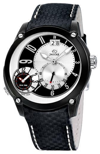 Jaguar J632_1 - мужские наручные часыJaguar<br><br><br>Бренд: Jaguar<br>Модель: Jaguar J632_1<br>Артикул: J632_1<br>Вариант артикула: None<br>Коллекция: None<br>Подколлекция: None<br>Страна: Швейцария<br>Пол: мужские<br>Тип механизма: кварцевые<br>Механизм: None<br>Количество камней: None<br>Автоподзавод: None<br>Источник энергии: от батарейки<br>Срок службы элемента питания: None<br>Дисплей: стрелки<br>Цифры: арабские<br>Водозащита: WR 50<br>Противоударные: None<br>Материал корпуса: нерж. сталь<br>Материал браслета: кожа<br>Материал безеля: None<br>Стекло: минеральное<br>Антибликовое покрытие: None<br>Цвет корпуса: None<br>Цвет браслета: None<br>Цвет циферблата: None<br>Цвет безеля: None<br>Размеры: None<br>Диаметр: None<br>Диаметр корпуса: None<br>Толщина: None<br>Ширина ремешка: None<br>Вес: None<br>Спорт-функции: None<br>Подсветка: стрелок<br>Вставка: None<br>Отображение даты: число<br>Хронограф: None<br>Таймер: None<br>Термометр: None<br>Хронометр: None<br>GPS: None<br>Радиосинхронизация: None<br>Барометр: None<br>Скелетон: None<br>Дополнительная информация: None<br>Дополнительные функции: второй часовой пояс