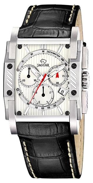 Jaguar J645_3 - мужские наручные часыJaguar<br><br><br>Бренд: Jaguar<br>Модель: Jaguar J645_3<br>Артикул: J645_3<br>Вариант артикула: None<br>Коллекция: None<br>Подколлекция: None<br>Страна: Швейцария<br>Пол: мужские<br>Тип механизма: кварцевые<br>Механизм: None<br>Количество камней: None<br>Автоподзавод: None<br>Источник энергии: от батарейки<br>Срок службы элемента питания: None<br>Дисплей: стрелки<br>Цифры: отсутствуют<br>Водозащита: WR 50<br>Противоударные: None<br>Материал корпуса: нерж. сталь<br>Материал браслета: кожа (не указан)<br>Материал безеля: None<br>Стекло: минеральное<br>Антибликовое покрытие: None<br>Цвет корпуса: None<br>Цвет браслета: None<br>Цвет циферблата: None<br>Цвет безеля: None<br>Размеры: None<br>Диаметр: None<br>Диаметр корпуса: None<br>Толщина: None<br>Ширина ремешка: None<br>Вес: None<br>Спорт-функции: секундомер<br>Подсветка: стрелок<br>Вставка: None<br>Отображение даты: число<br>Хронограф: есть<br>Таймер: None<br>Термометр: None<br>Хронометр: None<br>GPS: None<br>Радиосинхронизация: None<br>Барометр: None<br>Скелетон: None<br>Дополнительная информация: None<br>Дополнительные функции: None