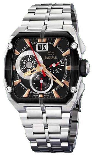 Jaguar J636_3 - мужские наручные часыJaguar<br><br><br>Бренд: Jaguar<br>Модель: Jaguar J636_3<br>Артикул: J636_3<br>Вариант артикула: None<br>Коллекция: None<br>Подколлекция: None<br>Страна: Швейцария<br>Пол: мужские<br>Тип механизма: кварцевые<br>Механизм: None<br>Количество камней: None<br>Автоподзавод: None<br>Источник энергии: от батарейки<br>Срок службы элемента питания: None<br>Дисплей: стрелки<br>Цифры: отсутствуют<br>Водозащита: WR 50<br>Противоударные: None<br>Материал корпуса: нерж. сталь, PVD покрытие (частичное)<br>Материал браслета: не указан<br>Материал безеля: None<br>Стекло: минеральное<br>Антибликовое покрытие: None<br>Цвет корпуса: None<br>Цвет браслета: None<br>Цвет циферблата: None<br>Цвет безеля: None<br>Размеры: 45x50 мм<br>Диаметр: None<br>Диаметр корпуса: None<br>Толщина: None<br>Ширина ремешка: None<br>Вес: None<br>Спорт-функции: секундомер<br>Подсветка: стрелок<br>Вставка: None<br>Отображение даты: число<br>Хронограф: есть<br>Таймер: None<br>Термометр: None<br>Хронометр: None<br>GPS: None<br>Радиосинхронизация: None<br>Барометр: None<br>Скелетон: None<br>Дополнительная информация: None<br>Дополнительные функции: None
