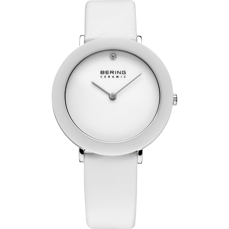 Bering 11435-654 - унисекс наручные часы из коллекции CeramicBering<br>сапфировое стекло, корпус из нерж. стали с безелем из керамики белого цвета, ремешок из кожи теленка белого цвета, циферблат белого цвета с 1-м кристаллом  swarovski<br><br>Бренд: Bering<br>Модель: Bering 11435-654<br>Артикул: 11435-654<br>Вариант артикула: ber-11435-654<br>Коллекция: Ceramic<br>Подколлекция: None<br>Страна: Дания<br>Пол: унисекс<br>Тип механизма: кварцевые<br>Механизм: None<br>Количество камней: None<br>Автоподзавод: None<br>Источник энергии: от батарейки<br>Срок службы элемента питания: None<br>Дисплей: стрелки<br>Цифры: отсутствуют<br>Водозащита: WR 50<br>Противоударные: None<br>Материал корпуса: нерж. сталь + керамика<br>Материал браслета: кожа<br>Материал безеля: керамика<br>Стекло: сапфировое<br>Антибликовое покрытие: None<br>Цвет корпуса: серебристый<br>Цвет браслета: белый<br>Цвет циферблата: None<br>Цвет безеля: белый<br>Размеры: 35 мм<br>Диаметр: 35 мм<br>Диаметр корпуса: None<br>Толщина: None<br>Ширина ремешка: None<br>Вес: None<br>Спорт-функции: None<br>Подсветка: None<br>Вставка: кристаллы Swarovski<br>Отображение даты: None<br>Хронограф: None<br>Таймер: None<br>Термометр: None<br>Хронометр: None<br>GPS: None<br>Радиосинхронизация: None<br>Барометр: None<br>Скелетон: None<br>Дополнительная информация: None<br>Дополнительные функции: None