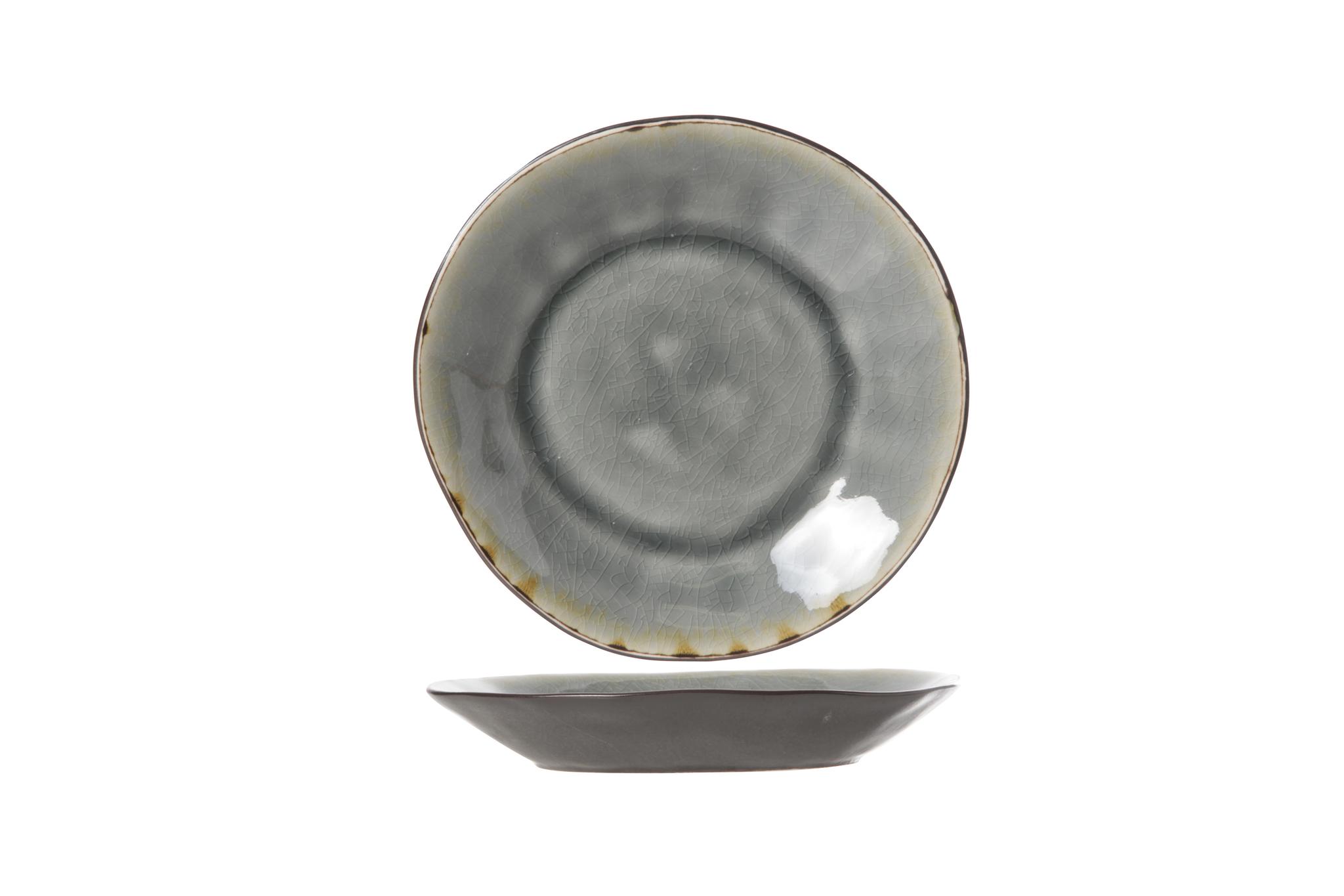 Блюдце 15 см COSY&amp;TRENDY Laguna blue-grey 5556324Новинки<br>Блюдце 15 см COSY&amp;TRENDY Laguna blue-grey 5556324<br><br>Эта коллекция из каменной керамики поражает удивительным цветом, текстурой и формой. Насыщенный ярко-серый оттенок с волнистым рельефом погружают в прибрежную лагуну. Органические края для дополнительного дизайна. Коллекция Laguna Blue-Grey воссоздает исключительный внешний вид приготовленных блюд.<br>