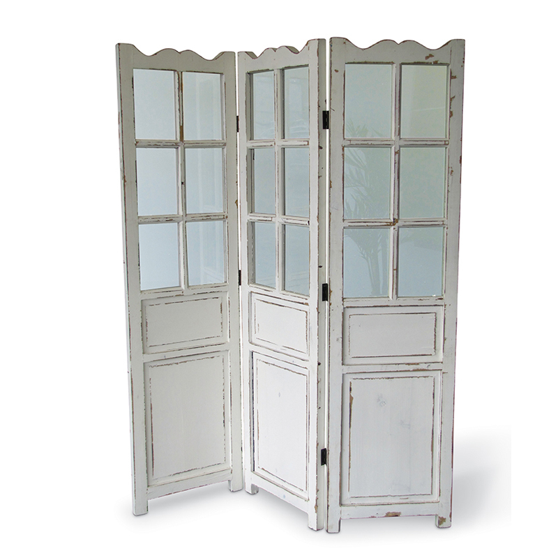 Экран-ширма с декоративными окнами (Мебель и предметы интерьера)Мебель и предметы интерьера<br>Экран-ширма с декоративными окнами 135x4x170 см<br>Материал: дерево<br>Цвет: белый<br>Производитель: Dekoratief, Бельгия<br>