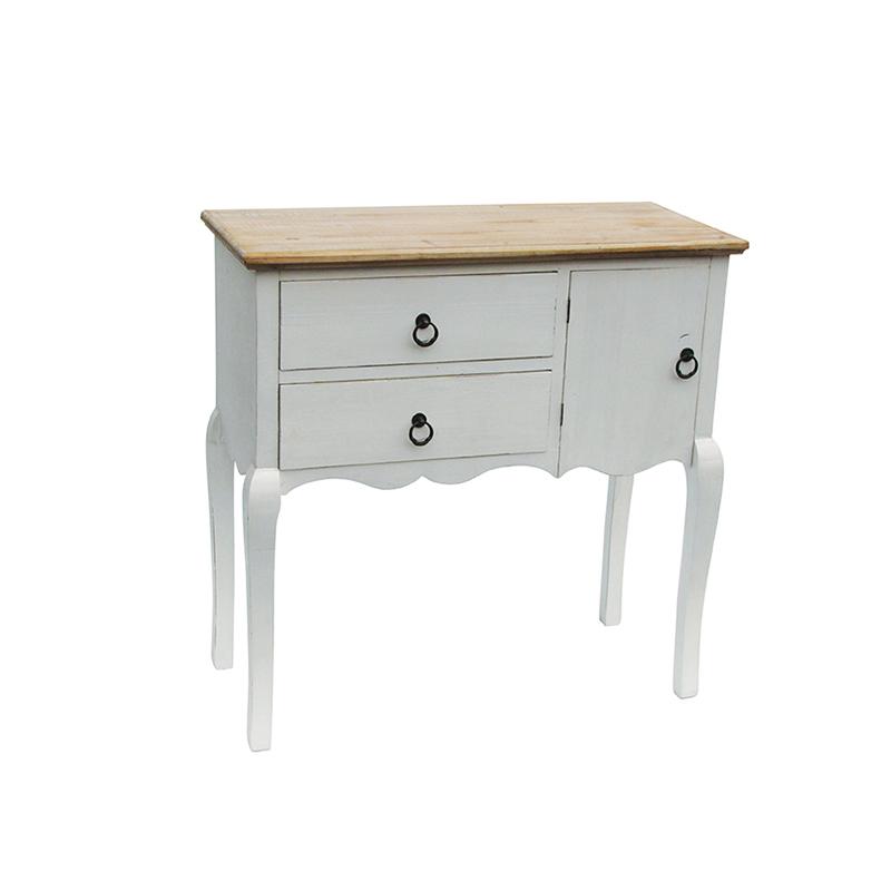 Комод с двумя ящиками (Мебель и предметы интерьера)Мебель и предметы интерьера<br>Комод с двумя ящиками<br>Размер: 80x35x80 см<br>Материал: дерево<br>Цвет: белый<br>Производитель: Dekoratief, Бельгия<br>