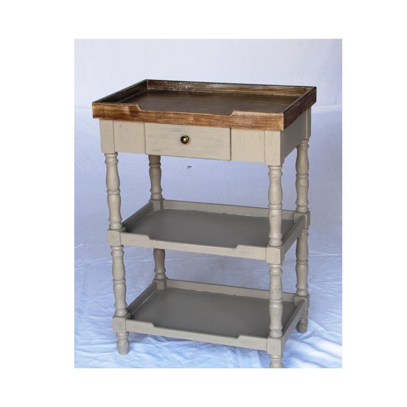 Консоль с 1 ящиком и 2 полками (Мебель и предметы интерьера)Мебель и предметы интерьера<br>Консоль с 1 ящиком и 2 полками<br>Размер: 60x40x86 см<br>Материал: дерево<br>Производитель: Dekoratief, Бельгия<br>