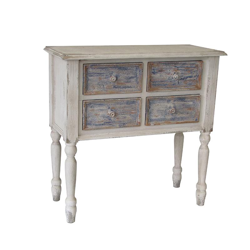 Комод с 4 ящиками (Мебель и предметы интерьера)Мебель и предметы интерьера<br>Комод с 4 ящиками<br>Размер: 88x38x83 см<br>Материал: дерево<br>Производитель: Dekoratief, Бельгия<br>