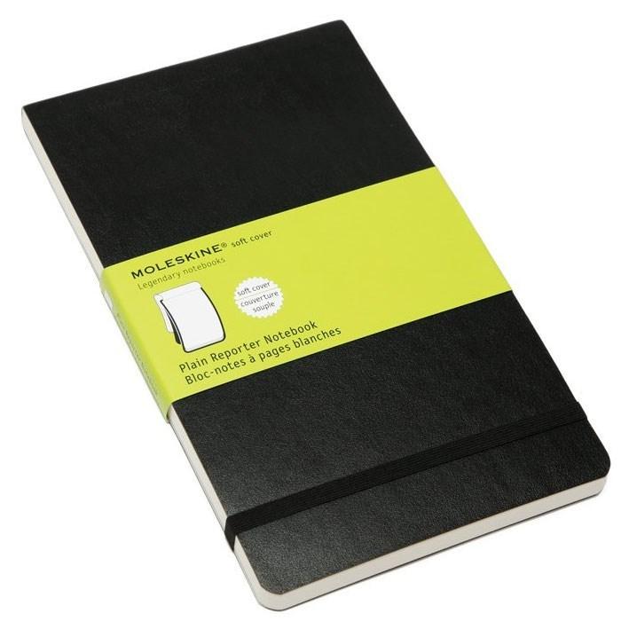 Блокнот Moleskine Reporter Soft, цвет черный, без разлиновкиMOLESKINE<br>Количество страниц: 240<br>