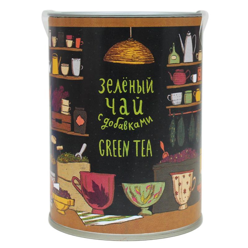Зеленый чай «Лавка сладостей»Лавка сладостей<br>Особый чай для особых случаев<br>Ароматный зеленый чай с натуральными добавками создаст атмосферу уюта и спокойствия в холодный зимний вечер. Это отличный подарок на Новый год и Рождество.<br>Наполните комнату нежными ароматами розы, бодрящей мальвы, сочного ананаса и восхитительно-сладкой клубники и почувствуйте яркий, насыщенный вкус летних красок.<br>Вкусный и полезный<br>Чай «Лавка сладостей» добавит душевности в любую беседу, вызовет миллион прекрасных воспоминаний и подарит объединяющий эффект.<br>Кроме того, зеленый чай очень полезен для фигуры, благодаря содержащимся в нем добавкам, каждая их которых способствует очищению организма и восстановлению легкости и бодрости.<br>Вес: 90 гр<br>Размер: 9,5х7 см<br>