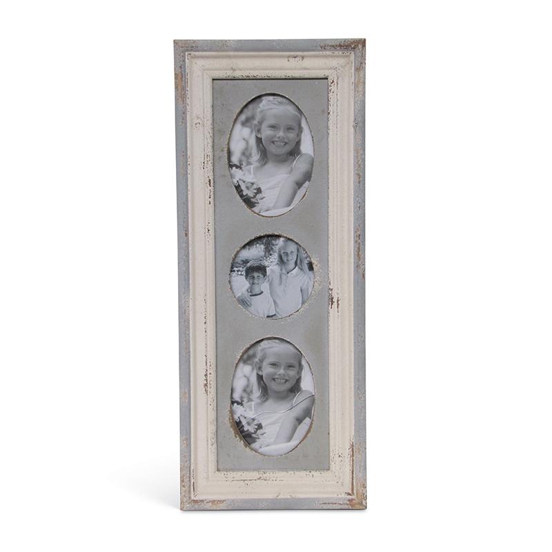 Рамка для 3-х фото (Мебель и предметы интерьера)Мебель и предметы интерьера<br>Вертикальная деревянная рамка для 3 фотографий<br>Размер: 63x2x26 см<br>Производитель: Dekoratief, Бельгия<br>