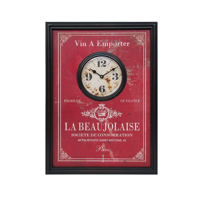 Часы Le Beaujolais / Божоле (Настенные и настольные часы)Настенные и настольные часы<br>Прямоугольные часы Le Beaujolais / Божоле<br>Деревянная основа<br>55x40 см<br>Производитель: Dekoratief, Бельгия<br>