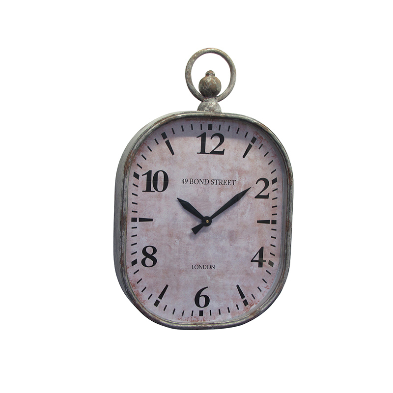 Металлические часы «Bond Street» (Настенные и настольные часы)Настенные и настольные часы<br>Металлические округлые часы Bond Street<br>43x7x69 см<br>Производитель: Dekoratief, Бельгия<br>