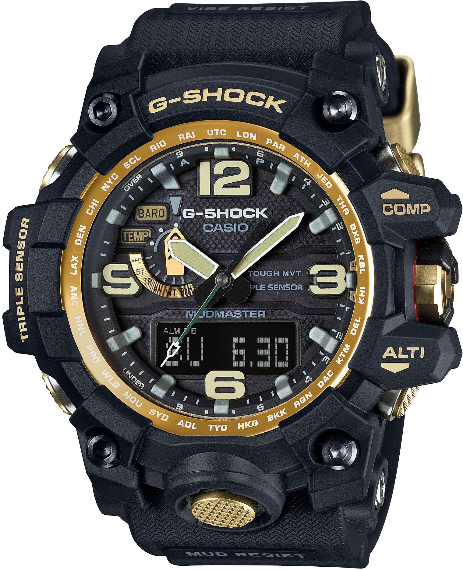 Casio G-SHOCK GWG-1000GB-1A / GWG-1000GB-1AER - мужские наручные часыCasio<br><br><br>Бренд: Casio<br>Модель: Casio GWG-1000GB-1A<br>Артикул: GWG-1000GB-1A<br>Вариант артикула: GWG-1000GB-1AER<br>Коллекция: G-SHOCK<br>Подколлекция: None<br>Страна: Япония<br>Пол: мужские<br>Тип механизма: кварцевые<br>Механизм: None<br>Количество камней: None<br>Автоподзавод: None<br>Источник энергии: от солнечной батареи<br>Срок службы элемента питания: None<br>Дисплей: None<br>Цифры: арабские<br>Водозащита: WR 200<br>Противоударные: есть<br>Материал корпуса: нерж. сталь + пластик<br>Материал браслета: пластик<br>Материал безеля: None<br>Стекло: сапфировое<br>Антибликовое покрытие: None<br>Цвет корпуса: None<br>Цвет браслета: None<br>Цвет циферблата: None<br>Цвет безеля: None<br>Размеры: None<br>Диаметр: None<br>Диаметр корпуса: None<br>Толщина: None<br>Ширина ремешка: None<br>Вес: 119 г<br>Спорт-функции: секундомер, таймер обратного отсчета, высотомер, барометр, термометр, компас<br>Подсветка: дисплея, стрелок<br>Вставка: None<br>Отображение даты: вечный календарь, число, день недели<br>Хронограф: None<br>Таймер: None<br>Термометр: None<br>Хронометр: None<br>GPS: None<br>Радиосинхронизация: есть<br>Барометр: None<br>Скелетон: None<br>Дополнительная информация: ежечасный сигнал, функция сохранения энергии, функция включения/отключения звука кнопок, функция Flash alert, функция перемещения стрелок, виброзащита, защита от грязи, время работы аккумулятора без подзарядки с использованием функции сохранения энергии 25 месяцев<br>Дополнительные функции: индикатор запаса хода, второй часовой пояс, будильник (количество установок: 5)