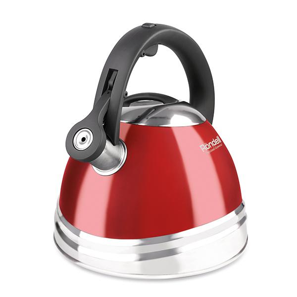 Чайник Rondell Fiero со свистком 3л RDS-498Чайники со свистком Rondell<br>Чайник Rondell Fiero со свистком 3л RDS-498<br><br>Объем: 3 л.<br>Высококачественная нержавеющая сталь 18/10. Внешнее антипригарное покрытие для легкого ухода. Комбинированная полировка: зеркальная и сатинированная. Капсулированное дно. Прочная бакелитовая ручка. Возможность налива воды одной рукой. Бакелитовый свисток со стальной сердцевиной и устройством для открывания носика на ручке. Свисток на клапане. Упаковка - подарочная упаковка с ручкой. Буклет с рецептами оригинальных чайных и кофейных напитков. Подходит для всех видов плит, включая индукционные. Подходит для посудомоечной машины.<br>