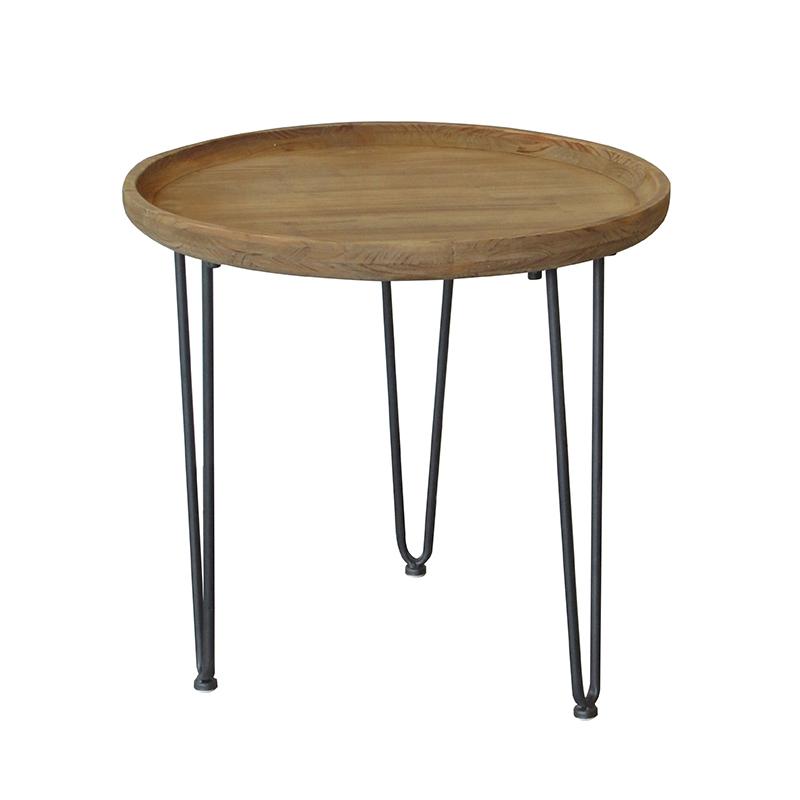 Журнальный столик (Мебель и предметы интерьера)Мебель и предметы интерьера<br>Круглый столик<br>Материал: металл/дерево<br>50x50x46 см<br>Производитель: Dekoratief, Бельгия<br>