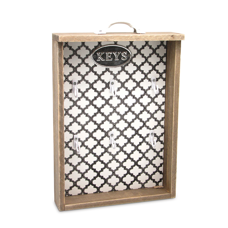 «al Arabe» Мебель и предметы интерьера<br>al Arabe <br>Настенный ящик для ключей <br>Материал - дерево <br>28x19x6cm <br>Dekoratief, Бельгия<br>