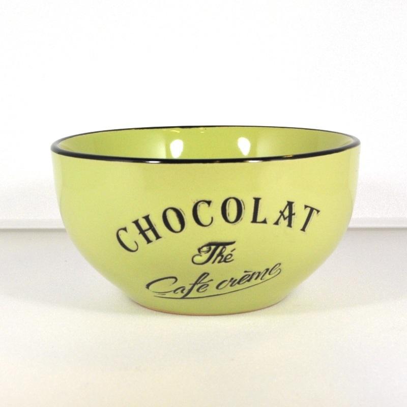 Салатник-чаша Brasserie зеленая (Фарфор и керамика Antic Line)Фарфор и керамика Antic Line<br>Салатник-чаша Brasserie зеленая   <br>Высота 7 см <br>Керамика, стилизовано под эмалированный металл   <br>Antic Line, Франция<br>