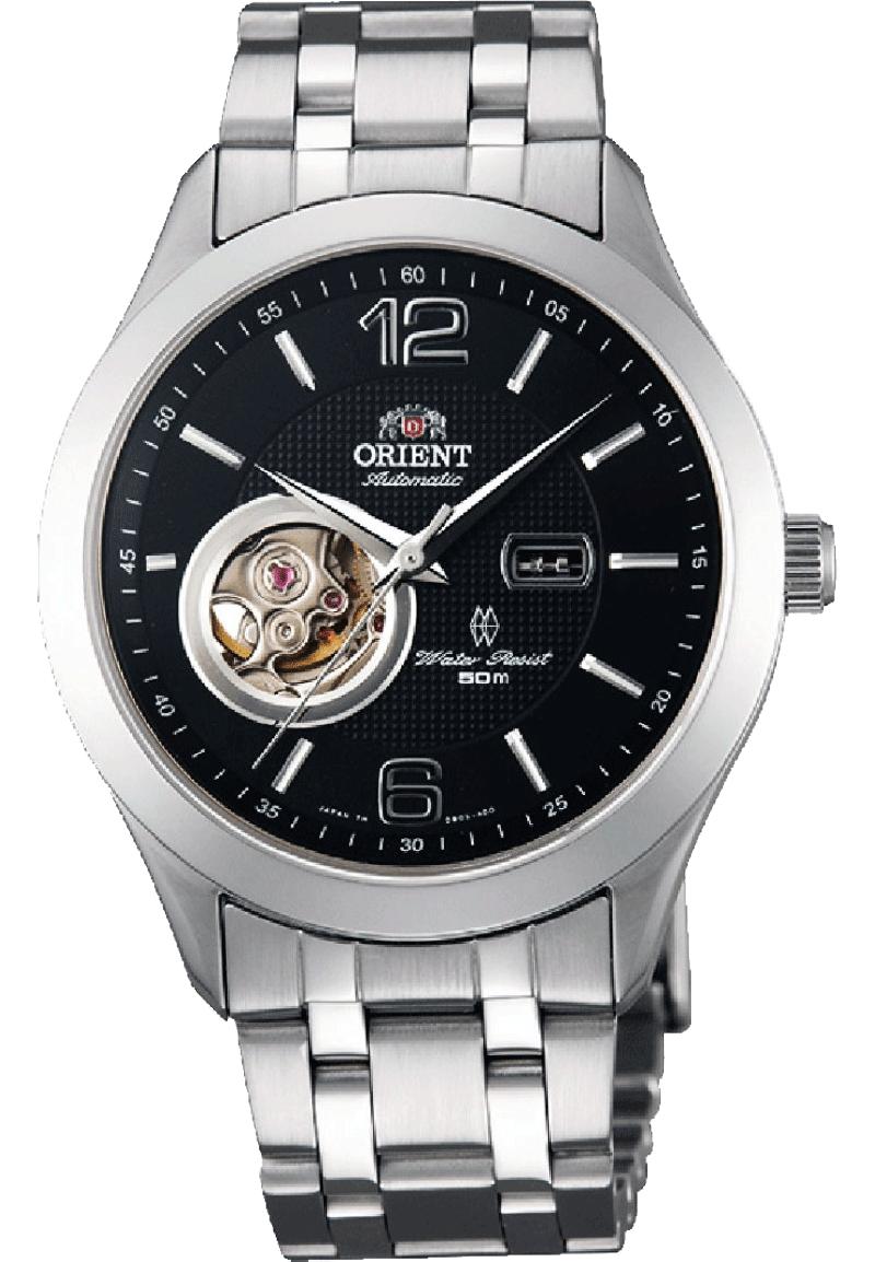 Orient DB05001B / FDB05001B0 - мужские наручные часыORIENT<br><br><br>Бренд: ORIENT<br>Модель: ORIENT DB05001B<br>Артикул: DB05001B<br>Вариант артикула: FDB05001B0<br>Коллекция: None<br>Подколлекция: None<br>Страна: Япония<br>Пол: мужские<br>Тип механизма: механические<br>Механизм: Orient Automatic Movement 46A41<br>Количество камней: 21<br>Автоподзавод: есть<br>Источник энергии: пружинный механизм<br>Срок службы элемента питания: None<br>Дисплей: стрелки<br>Цифры: арабские<br>Водозащита: WR 50<br>Противоударные: есть<br>Материал корпуса: нерж. сталь<br>Материал браслета: не указан<br>Материал безеля: None<br>Стекло: сапфировое<br>Антибликовое покрытие: есть<br>Цвет корпуса: None<br>Цвет браслета: None<br>Цвет циферблата: None<br>Цвет безеля: None<br>Размеры: 38.5x11.5 мм<br>Диаметр: None<br>Диаметр корпуса: None<br>Толщина: None<br>Ширина ремешка: None<br>Вес: None<br>Спорт-функции: None<br>Подсветка: None<br>Вставка: None<br>Отображение даты: None<br>Хронограф: None<br>Таймер: None<br>Термометр: None<br>Хронометр: None<br>GPS: None<br>Радиосинхронизация: None<br>Барометр: None<br>Скелетон: None<br>Дополнительная информация: запас хода 40 часов, прозрачная задняя крышка<br>Дополнительные функции: None