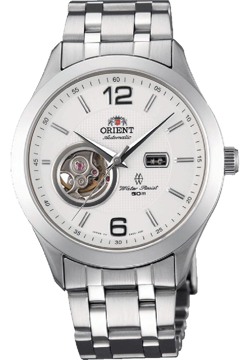 Orient DB05001W / FDB05001W0 - мужские наручные часыORIENT<br><br><br>Бренд: ORIENT<br>Модель: ORIENT DB05001W<br>Артикул: DB05001W<br>Вариант артикула: FDB05001W0<br>Коллекция: None<br>Подколлекция: None<br>Страна: Япония<br>Пол: мужские<br>Тип механизма: механические<br>Механизм: Orient 46A41<br>Количество камней: 21<br>Автоподзавод: есть<br>Источник энергии: пружинный механизм<br>Срок службы элемента питания: None<br>Дисплей: стрелки<br>Цифры: арабские<br>Водозащита: WR 50<br>Противоударные: None<br>Материал корпуса: нерж. сталь<br>Материал браслета: нерж. сталь<br>Материал безеля: None<br>Стекло: сапфировое<br>Антибликовое покрытие: None<br>Цвет корпуса: None<br>Цвет браслета: None<br>Цвет циферблата: None<br>Цвет безеля: None<br>Размеры: 38.5x11.5 мм<br>Диаметр: None<br>Диаметр корпуса: None<br>Толщина: None<br>Ширина ремешка: None<br>Вес: 137 г<br>Спорт-функции: None<br>Подсветка: None<br>Вставка: None<br>Отображение даты: None<br>Хронограф: None<br>Таймер: None<br>Термометр: None<br>Хронометр: None<br>GPS: None<br>Радиосинхронизация: None<br>Барометр: None<br>Скелетон: да<br>Дополнительная информация: запас хода 40 часов, точность хода не хуже -15+25 сек/сутки<br>Дополнительные функции: None