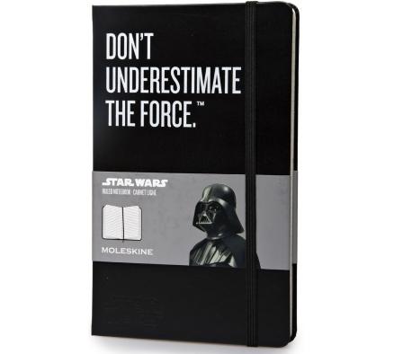Ежедневник Moleskine Star Wars Large LE, цвет черныйMOLESKINE<br>Записную книжку Moleskine Star Wars можно использовать как ежедневник, самостоятельно проставив даты.<br>