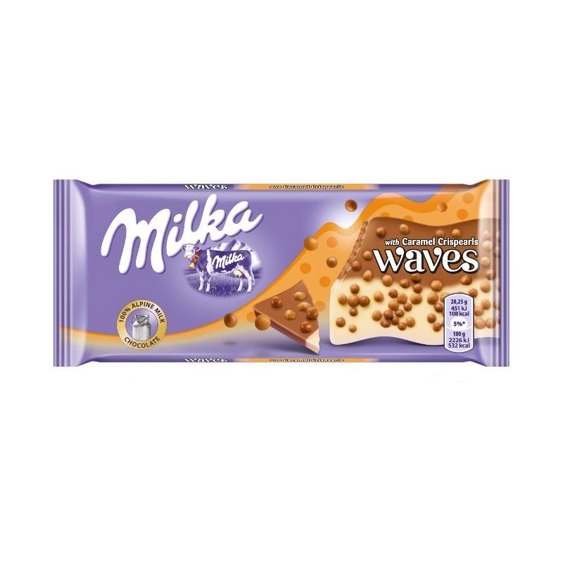 Шоколад Milka Waves CookielДень рождения<br>Вес: 81 гр<br>