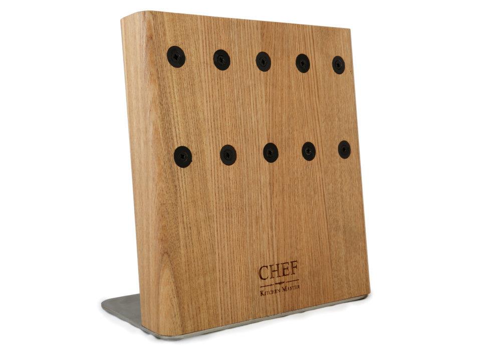 Магнитная подставка для 5 ножей Chef CH-003/NATМагнитные держатели для ножей<br>Магнитная подставка Шеф сделана из натурального ясеня сохранит ваши ножи в идеальном состоянии. Подставка рассчитана на 5 ножей.<br>