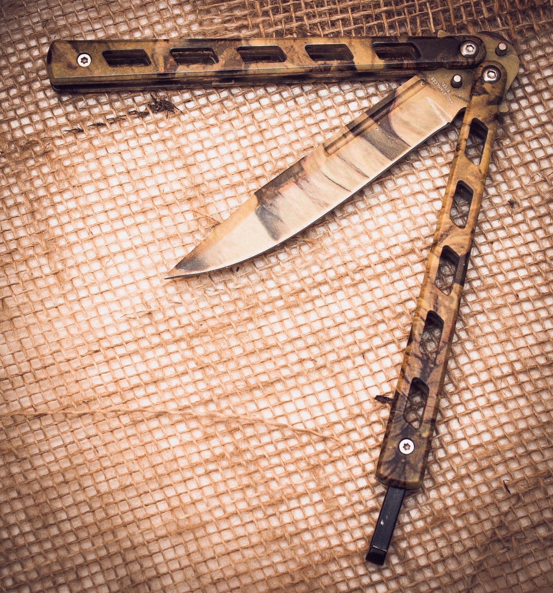 Нож бабочка Пустынный орел - 4
