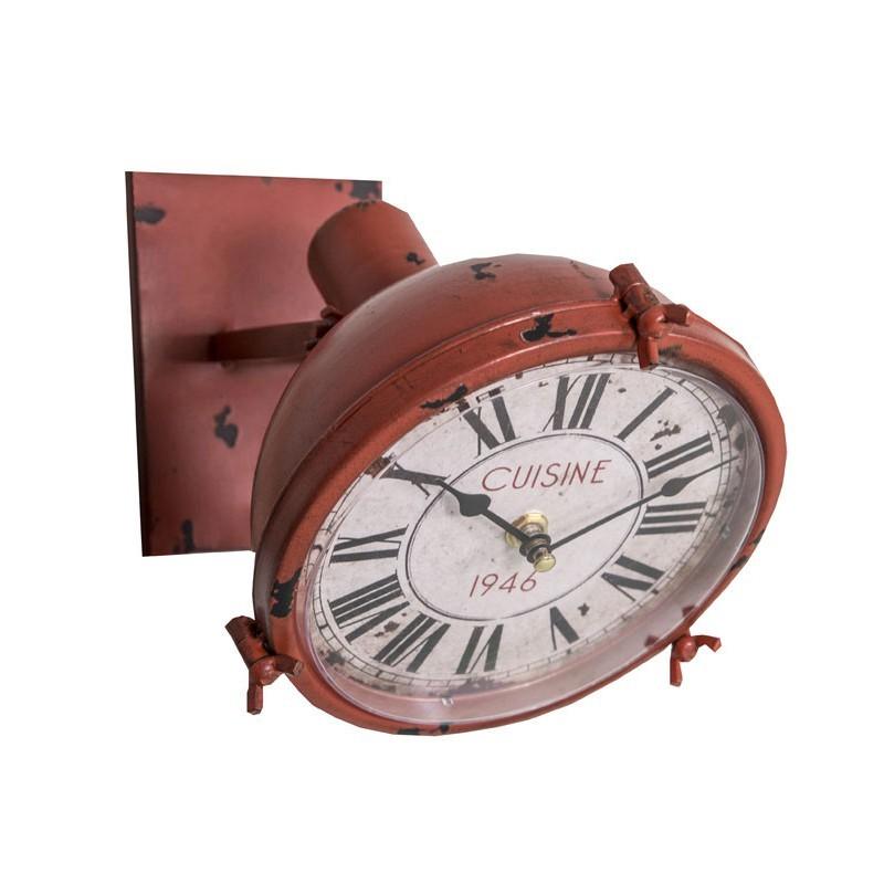 Часы Cuisine / Кухня 1946 (Настенные и настольные часы)Настенные и настольные часы<br>Часы Cuisine / Кухня 1946 <br>19х24 см<br>Металл <br>Antic Line, Франция<br>