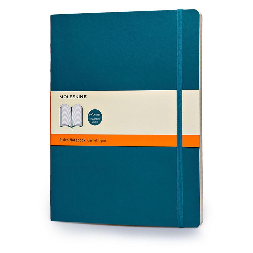 Блокнот Moleskine Classic Soft, цвет синий сапфир, без разлиновкиMOLESKINE<br><br>