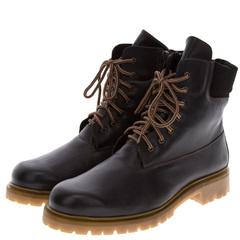 596478 ботинки мужские черные больших размеров марки Делфино