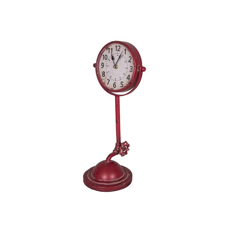 Часы настольные красные (Настенные и настольные часы)Настенные и настольные часы<br>Часы настольные красные <br>21х45 см <br>Металл <br>Antic Line, Франция<br>