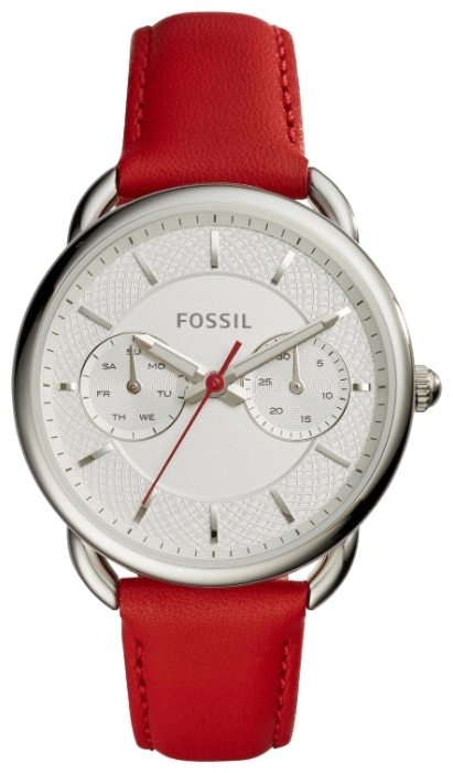 Fossil ES4122 - женские наручные часыFossil<br><br><br>Бренд: Fossil<br>Модель: Fossil ES4122<br>Артикул: ES4122<br>Вариант артикула: None<br>Коллекция: None<br>Подколлекция: None<br>Страна: США<br>Пол: женские<br>Тип механизма: кварцевые<br>Механизм: None<br>Количество камней: None<br>Автоподзавод: None<br>Источник энергии: от батарейки<br>Срок службы элемента питания: None<br>Дисплей: стрелки<br>Цифры: отсутствуют<br>Водозащита: WR 50<br>Противоударные: None<br>Материал корпуса: нерж. сталь<br>Материал браслета: кожа<br>Материал безеля: None<br>Стекло: минеральное<br>Антибликовое покрытие: None<br>Цвет корпуса: None<br>Цвет браслета: None<br>Цвет циферблата: None<br>Цвет безеля: None<br>Размеры: None<br>Диаметр: None<br>Диаметр корпуса: 34<br>Толщина: None<br>Ширина ремешка: 16 см<br>Вес: None<br>Спорт-функции: None<br>Подсветка: стрелок<br>Вставка: None<br>Отображение даты: число, день недели<br>Хронограф: None<br>Таймер: None<br>Термометр: None<br>Хронометр: None<br>GPS: None<br>Радиосинхронизация: None<br>Барометр: None<br>Скелетон: None<br>Дополнительная информация: None<br>Дополнительные функции: None