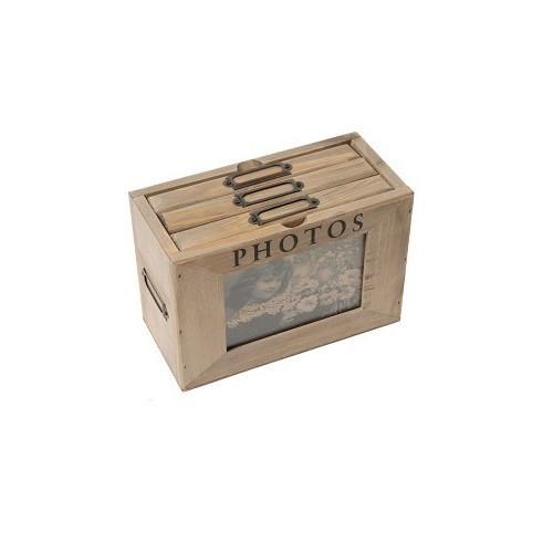 Ящик-альбом для фотографий (Подарки для женщин)Подарки для женщин<br>Ящик-альбом для фотографий <br>20х13х9,5 см<br>Дерево <br>Antic Line, Франция<br>