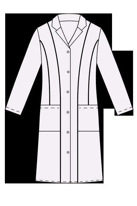 Выкройка медицинского халата женский