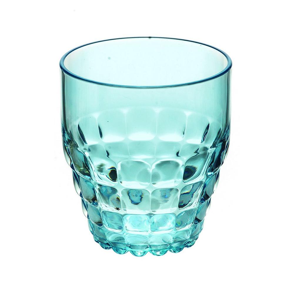 Стакан Guzzini Tiffany голубой 22570081Бокалы и стаканы<br>Стакан Guzzini Tiffany голубой 22570081<br><br>Легкий и яркий дизайн стаканов Tiffany будто намекает на освежающие лимонады, бодрящие соки и цитрусовые коктейли. Отличается конической формой и прозрачным материалом, который придает стаканам характерный блеск. Сверкающий эффект усиливается на солнечном свету, поэтому стаканы станут отличным решением для подачи напитков на свежем воздухе. Идеально подойдут для использования каждый день - добавят яркий акцент пространству кухни или гостиной.  Объем - 350 мл. Изготовлены из высококачественного органического стекла, устойчивого к износу и повреждениям. Не содержат вредных примесей и бисфенола-А. Можно мыть в посудомоечной машине.<br>Официальный продавец<br>