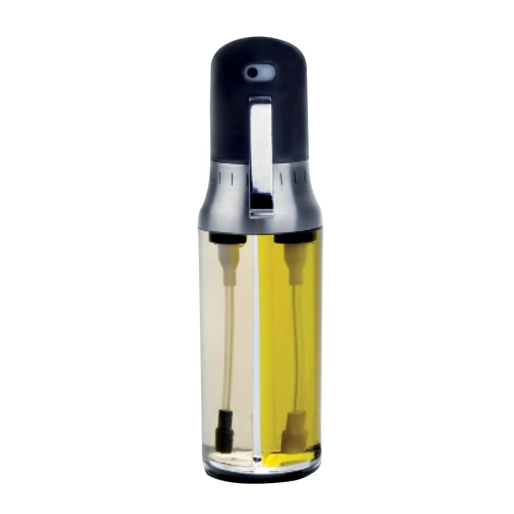 Дозатор для масла и уксуса 200 мл IBILI Prisma арт. 790300Ёмкости для масла и уксуса<br>вид упаковки:подарочнаяматериал:пластикобъем (л):0.20предметов в наборе (штук):1ручки:фиксированныестрана:Испания<br><br>Крышки из жароустойчивого стекла серии Prisma от Ibili отличаются стильным дизайном, эргономичными ручками, великолепным исполнением и непревзойденным удобством в эксплуатации. Любое изделие линейки Prisma — это современные инновации в сочетании с оригинальным воплощением смелых творческих идей. Все крышки выполнены из безопасных и качественных материалов, не оказывающих негативного влияния на здоровье человека или окружающую среду.<br>Круглые крышки коллекции Prisma идеально подойдут к сковородам соответствующего диаметра из любых коллекций бренда Ibili. Они плотно накрывают сковороду, а крупная ручка удобно ложится в руку.<br>