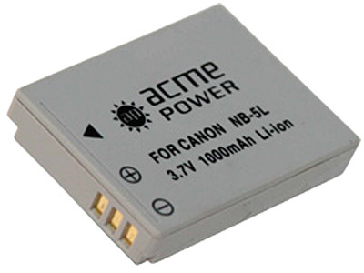 ����������� ��� Canon Digital IXUS 970 IS NB-5L (������� AcmePower ��� ������������ �����)