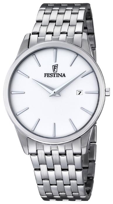 Festina F6833.1 - мужские наручные часы из коллекции ClassicFestina<br><br><br>Бренд: Festina<br>Модель: Festina F6833/1<br>Артикул: F6833.1<br>Вариант артикула: None<br>Коллекция: Classic<br>Подколлекция: None<br>Страна: Испания<br>Пол: мужские<br>Тип механизма: кварцевые<br>Механизм: M9U15<br>Количество камней: None<br>Автоподзавод: None<br>Источник энергии: от батарейки<br>Срок службы элемента питания: None<br>Дисплей: стрелки<br>Цифры: отсутствуют<br>Водозащита: WR 30<br>Противоударные: None<br>Материал корпуса: нерж. сталь<br>Материал браслета: нерж. сталь<br>Материал безеля: None<br>Стекло: минеральное<br>Антибликовое покрытие: None<br>Цвет корпуса: None<br>Цвет браслета: None<br>Цвет циферблата: None<br>Цвет безеля: None<br>Размеры: 40 мм<br>Диаметр: None<br>Диаметр корпуса: None<br>Толщина: None<br>Ширина ремешка: None<br>Вес: None<br>Спорт-функции: None<br>Подсветка: None<br>Вставка: None<br>Отображение даты: число<br>Хронограф: None<br>Таймер: None<br>Термометр: None<br>Хронометр: None<br>GPS: None<br>Радиосинхронизация: None<br>Барометр: None<br>Скелетон: None<br>Дополнительная информация: None<br>Дополнительные функции: None