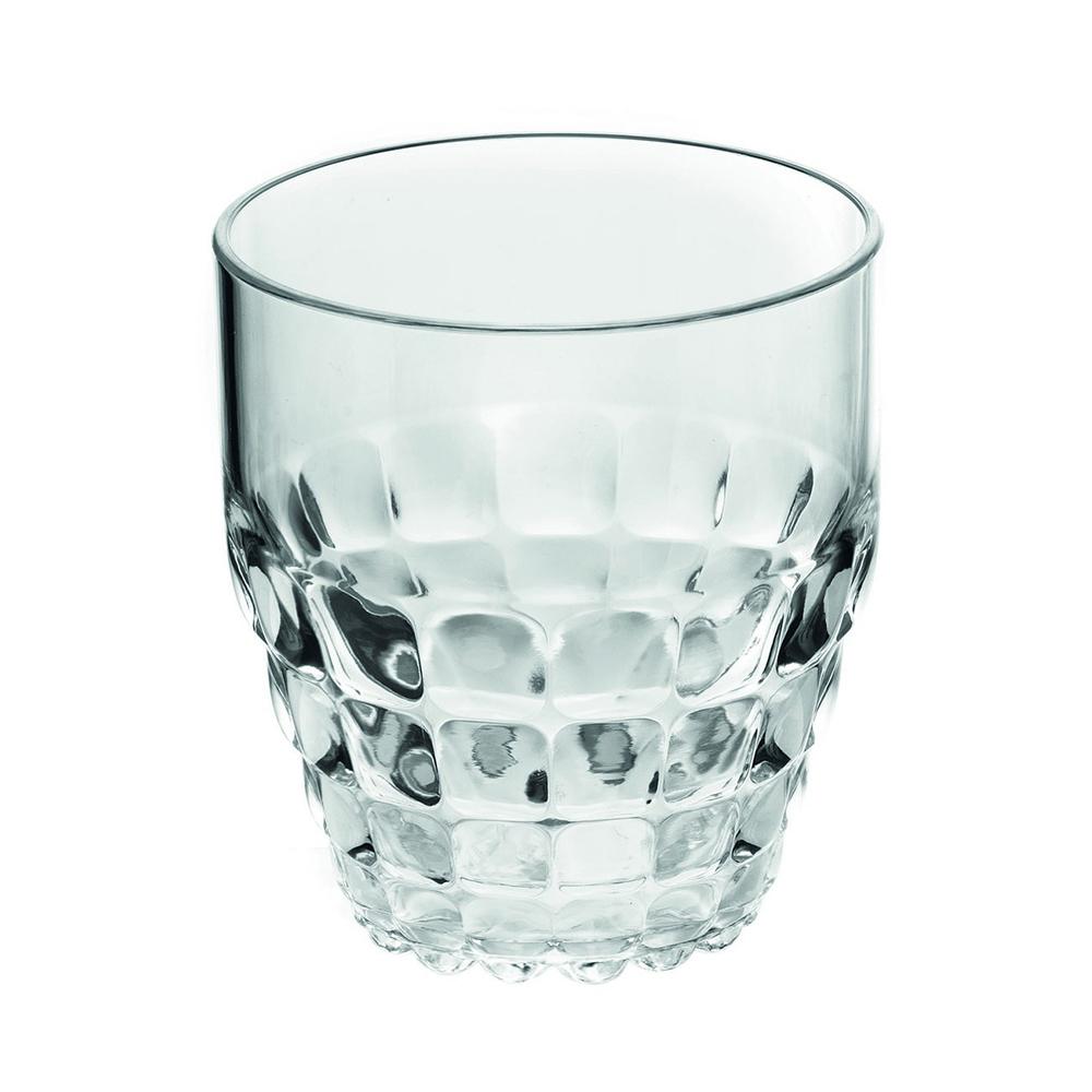Стакан Guzzini Tiffany прозрачный 22570000Бокалы и стаканы<br>Стакан Guzzini Tiffany прозрачный 22570000<br><br>Легкий и яркий дизайн стаканов Tiffany будто намекает на освежающие лимонады, бодрящие соки и цитрусовые коктейли. Отличается конической формой и прозрачным материалом, который придает стаканам характерный блеск. Сверкающий эффект усиливается на солнечном свету, поэтому стаканы станут отличным решением для подачи напитков на свежем воздухе. Идеально подойдут для использования каждый день - добавят яркий акцент пространству кухни или гостиной.  Объем - 350 мл. Изготовлены из высококачественного органического стекла, устойчивого к износу и повреждениям. Не содержат вредных примесей и бисфенола-А. Можно мыть в посудомоечной машине.<br>Официальный продавец<br>