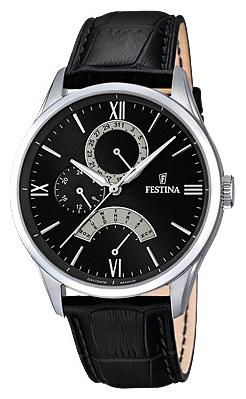 Festina F16823.2 - мужские наручные часы из коллекции RetrogradeFestina<br><br><br>Бренд: Festina<br>Модель: Festina F16823/2<br>Артикул: F16823.2<br>Вариант артикула: None<br>Коллекция: Retrograde<br>Подколлекция: None<br>Страна: Испания<br>Пол: мужские<br>Тип механизма: кварцевые<br>Механизм: MJR10<br>Количество камней: None<br>Автоподзавод: None<br>Источник энергии: от батарейки<br>Срок службы элемента питания: None<br>Дисплей: стрелки<br>Цифры: римские<br>Водозащита: WR 50<br>Противоударные: None<br>Материал корпуса: нерж. сталь<br>Материал браслета: кожа<br>Материал безеля: None<br>Стекло: минеральное<br>Антибликовое покрытие: None<br>Цвет корпуса: None<br>Цвет браслета: None<br>Цвет циферблата: None<br>Цвет безеля: None<br>Размеры: 43 мм<br>Диаметр: None<br>Диаметр корпуса: None<br>Толщина: None<br>Ширина ремешка: None<br>Вес: None<br>Спорт-функции: None<br>Подсветка: стрелок<br>Вставка: None<br>Отображение даты: число, день недели<br>Хронограф: None<br>Таймер: None<br>Термометр: None<br>Хронометр: None<br>GPS: None<br>Радиосинхронизация: None<br>Барометр: None<br>Скелетон: None<br>Дополнительная информация: None<br>Дополнительные функции: None