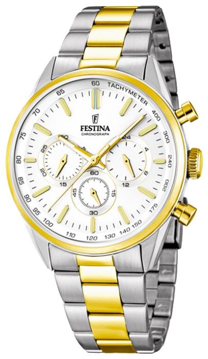 Festina F16821.1 - мужские наручные часы из коллекции ChronographFestina<br><br><br>Бренд: Festina<br>Модель: Festina F16821/1<br>Артикул: F16821.1<br>Вариант артикула: None<br>Коллекция: Chronograph<br>Подколлекция: None<br>Страна: Испания<br>Пол: мужские<br>Тип механизма: кварцевые<br>Механизм: MJS20<br>Количество камней: None<br>Автоподзавод: None<br>Источник энергии: от батарейки<br>Срок службы элемента питания: None<br>Дисплей: стрелки<br>Цифры: отсутствуют<br>Водозащита: WR 50<br>Противоударные: None<br>Материал корпуса: нерж. сталь, PVD покрытие (частичное)<br>Материал браслета: нерж. сталь, PVD покрытие (частичное)<br>Материал безеля: None<br>Стекло: минеральное<br>Антибликовое покрытие: None<br>Цвет корпуса: None<br>Цвет браслета: None<br>Цвет циферблата: None<br>Цвет безеля: None<br>Размеры: 44x11 мм<br>Диаметр: None<br>Диаметр корпуса: None<br>Толщина: None<br>Ширина ремешка: None<br>Вес: None<br>Спорт-функции: секундомер<br>Подсветка: стрелок<br>Вставка: None<br>Отображение даты: None<br>Хронограф: есть<br>Таймер: None<br>Термометр: None<br>Хронометр: None<br>GPS: None<br>Радиосинхронизация: None<br>Барометр: None<br>Скелетон: None<br>Дополнительная информация: None<br>Дополнительные функции: None