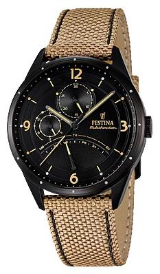 Festina F16849.1 - мужские наручные часы из коллекции RetrogradeFestina<br><br><br>Бренд: Festina<br>Модель: Festina F16849/1<br>Артикул: F16849.1<br>Вариант артикула: None<br>Коллекция: Retrograde<br>Подколлекция: None<br>Страна: Испания<br>Пол: мужские<br>Тип механизма: кварцевые<br>Механизм: MJR10<br>Количество камней: None<br>Автоподзавод: None<br>Источник энергии: от батарейки<br>Срок службы элемента питания: None<br>Дисплей: стрелки<br>Цифры: арабские<br>Водозащита: WR 50<br>Противоударные: None<br>Материал корпуса: нерж. сталь, полное покрытие корпуса<br>Материал браслета: текстиль<br>Материал безеля: None<br>Стекло: минеральное<br>Антибликовое покрытие: None<br>Цвет корпуса: None<br>Цвет браслета: None<br>Цвет циферблата: None<br>Цвет безеля: None<br>Размеры: 41 мм<br>Диаметр: None<br>Диаметр корпуса: None<br>Толщина: None<br>Ширина ремешка: None<br>Вес: None<br>Спорт-функции: None<br>Подсветка: None<br>Вставка: None<br>Отображение даты: число, день недели<br>Хронограф: None<br>Таймер: None<br>Термометр: None<br>Хронометр: None<br>GPS: None<br>Радиосинхронизация: None<br>Барометр: None<br>Скелетон: None<br>Дополнительная информация: None<br>Дополнительные функции: None